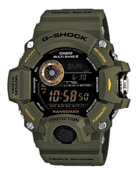Relogio Casio G-shock Gw-9400-3v Verde Rangeman Brinde