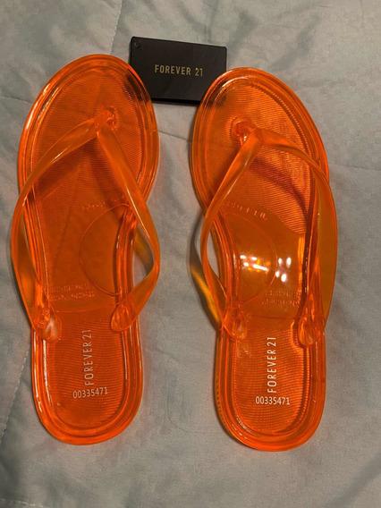 Ojotas Sandalias Orange Forever 21 Original Importada 37