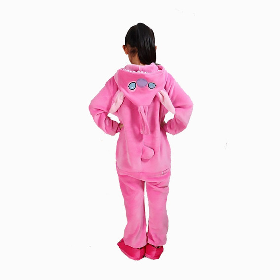 Kigurumi Stitch Rosa Pijama Mameluco Disfraz Cosplay Niño/a
