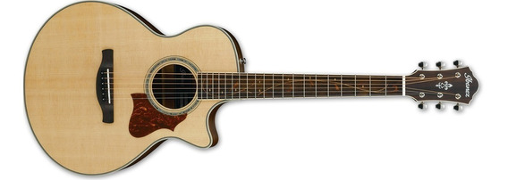 Guitarra Electroacústica Ibanez Ae205jr Natural Tapa Solida