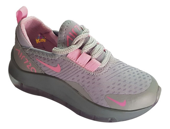 Zapatos Nike Air270 Grises Para Niñas