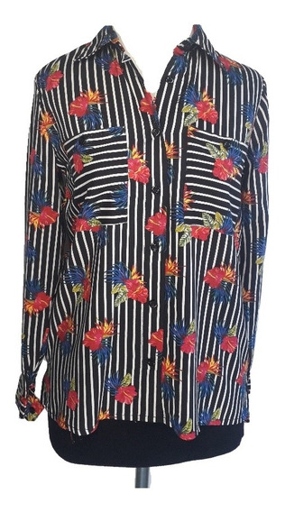 Camisa Mujer Estampada Fibrana Moda Okoche Ok8184