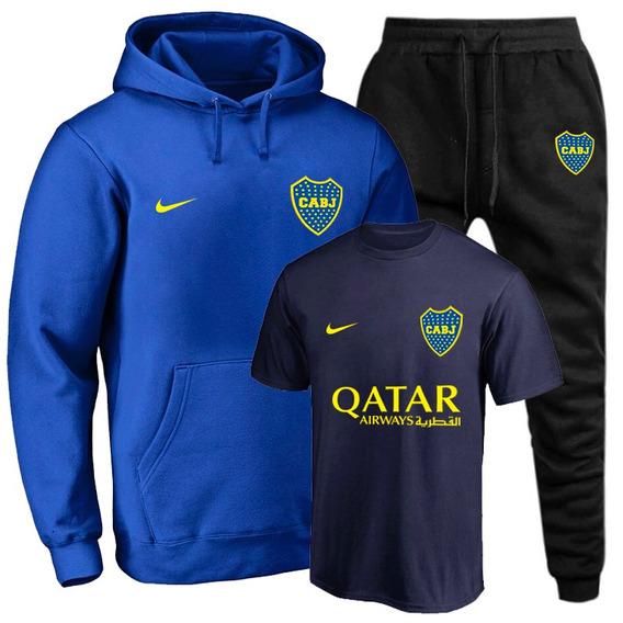 Moletom Masculino Blusa + Calça Boca Juniors Brinde Camiseta