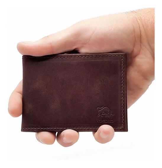 Porta Cartão Carteira Masculina Slim - Couro Legítimo
