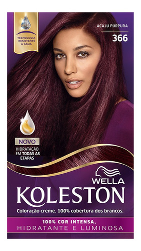 Coloração Creme Koleston Kit Acaju Púrpura 366