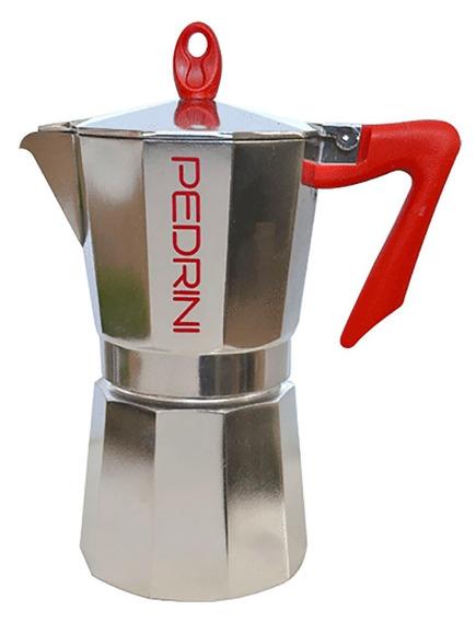Cafetera Italiana Pedrini Aluminio 9 Pocillos 585 Ml