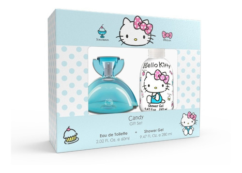 Set Hello Kitty Perfume Candy 60 Ml + Shower Gel