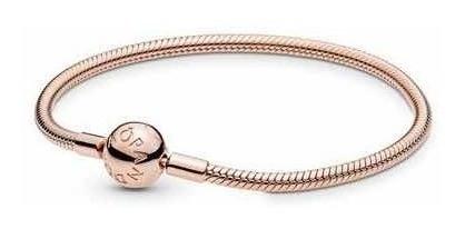 Bracelete Rosé Liso Em Prata 925 Est Pandora
