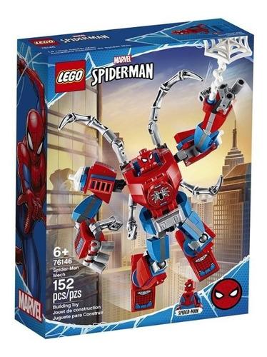 Lego Spiderman Lego 76146 Marvel 152 Pzs Spiderman Mech