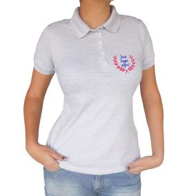 cfb36c36f4 Camisa+gola+polo+feminina - Pólos Manga Curta Femininas Prateado no ...