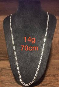 Colar De Prata Italiana 925 Modelo 3x1 14g 70cm