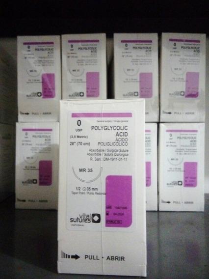 Ácido Poliglicolico Vicryl, Varias Medidas. Caja*36 Unidades