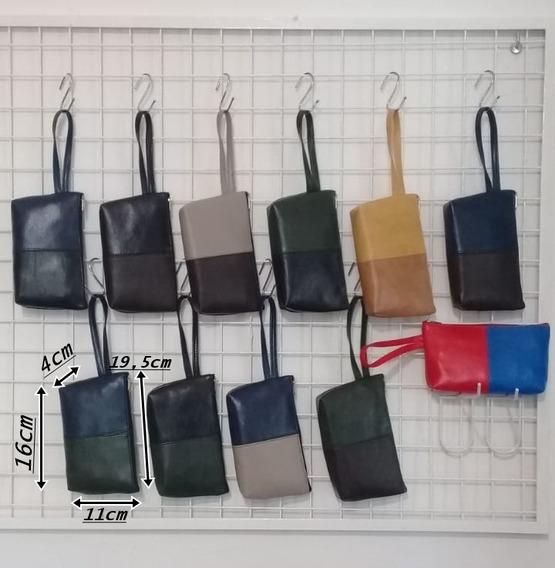 Monedero Billetera Portacosmetico Bicolor 6 Unidades X $405