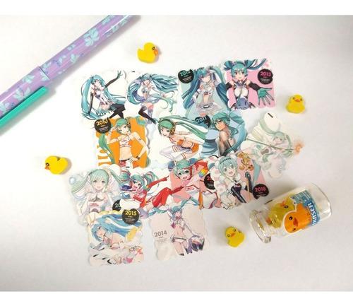 Set De 14 Stickers Vocaloid Miku Hatsune