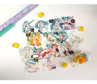 Set De 14 Stickers Vocaloid Miku Hatsune