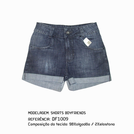 Shorts Boyfriends Jeans Feminino Df1009