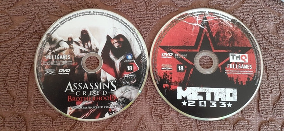 Dvd Full Games Assassin Creed Brotherhood E Metro 2033 Ths