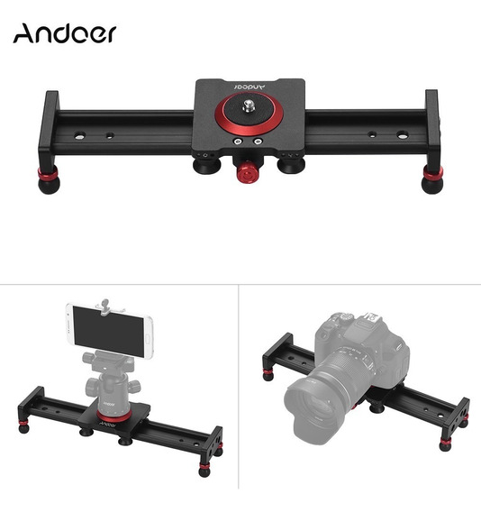 Andoer 30cm/12inch Aleación De Aluminio Cámara Pista Slider