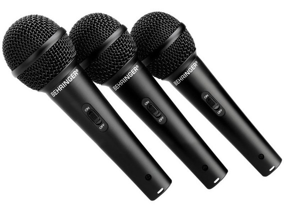 Kit Xm1800s 3 Microfones Behringer Profissional Xm-1800s