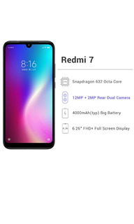 Xiaomi Redmi 7 (3gb Ram / 32gb Rom) Android 9.0 Miui 10