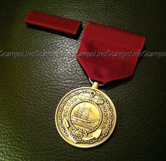 Us Navy Good Conduct Medal & Ribbon Bar. Nuevos.
