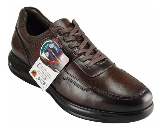 Sapato Masculino Social Couro Jota Pe 3d Total Plus
