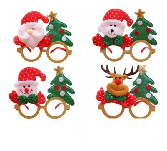 Lentes Navideños Posada Fiesta Navidad Decoración 12pz C