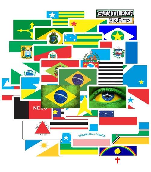 Adesivo Bandeira Espirito Santo Estados Brasil Kit 31pcs