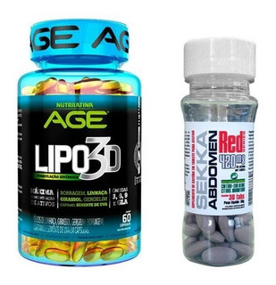 Kit Emagrecedor Lipo 3d Nutrilatina 60caps + Sekka Abdomen R