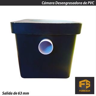 Camara Desengrasadora Pvc Negra Con Tapa Salida 63 Mm 30x30
