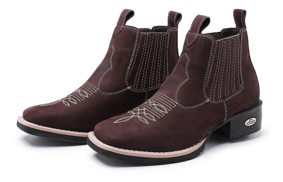 Botina Coutry Unissex Bico Quadrado Pessoni Boots & Shoes