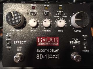 G-lab Sd1 Delay Analógico Smooth Glab Tap L, Kill Dry, Tail