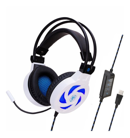 Sy855mv 7,1 Canal De Fio De Auscultadores Usb Com Luz Azul B