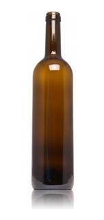 Botella Envase Vidrio 750 M Con Corcho Decoracion