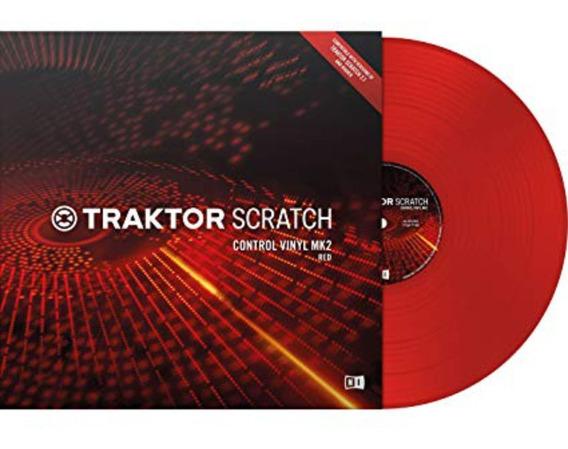 Traktor Scratch Control Vinyl Mk2 Red