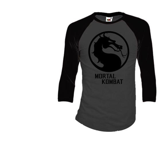 Mortal Kombat Playeras Manga 3/4 Para Hombre Y Mujer