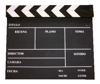 Claqueta Pizarra Para Cine Video Bifaz 29 Cm X 24,5 Cm