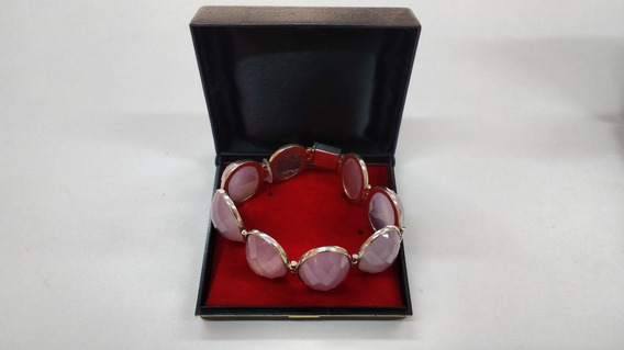 Bracelete De Quartzo Na Prata 950