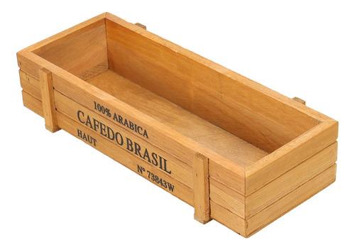 Vintage Madeira Suculenta Planta Carnuda Flower Bed Pot Box