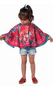 Mon Sucre Poncho Infantil Feminino 3 4 Anos Promoção