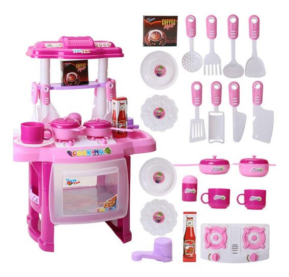 Cocina De Juguete Con Sonidos, Luces Y Accesorios Para Niños