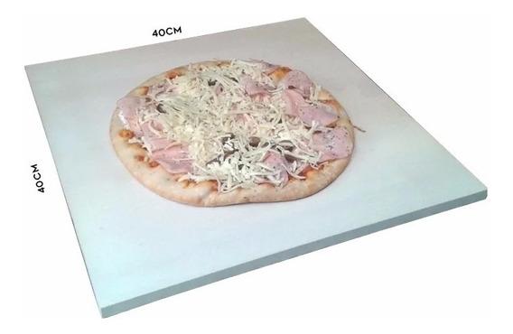 Pedra Pizza Cerâmica 40x40cm Forno E Churrasqueira