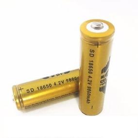 10 Bateria 18650 9800mah 4.2v Para Lanterna Tática Led