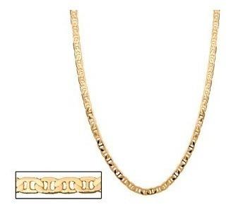 Corrente Fio Elo Diamantado Folheado Ouro. Med 60 Cm