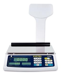 Balanza Electronica Systel Croma 31 Kg Conexion A Impresor
