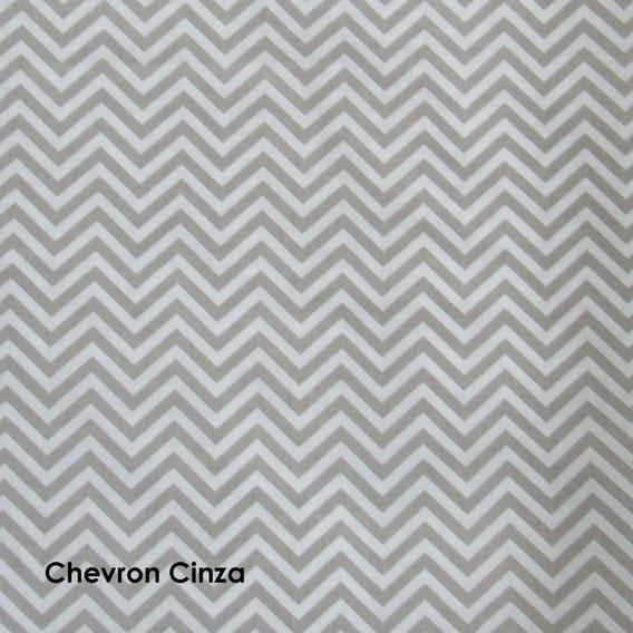 Tecido Tricoline Estampado Chevron Cinza E Branco 1m X 1,5m