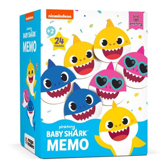 Juego De Memoria - Super Memo - Baby Shark - Nickelodeon Ofi