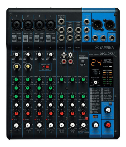 Imagen 1 de 3 de Yamaha Mg10xu Consola 10 Canales Efectos Usb