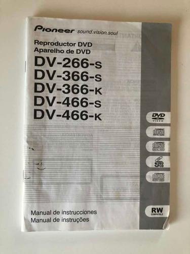 Manual De Reproductor Dvd Dv-266-s  Dv- 366 Dv -466