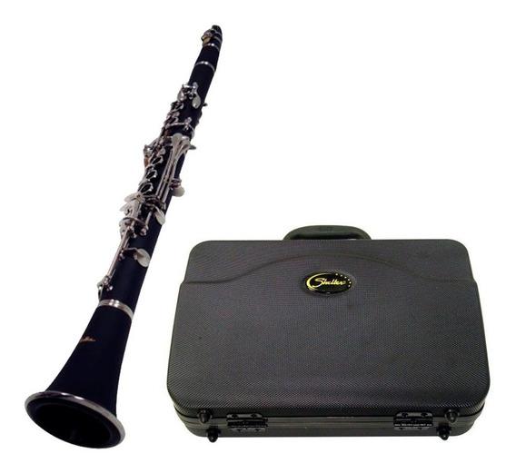 Clarineta Shelter Tjs6402 Niquelada C/ Hard Case